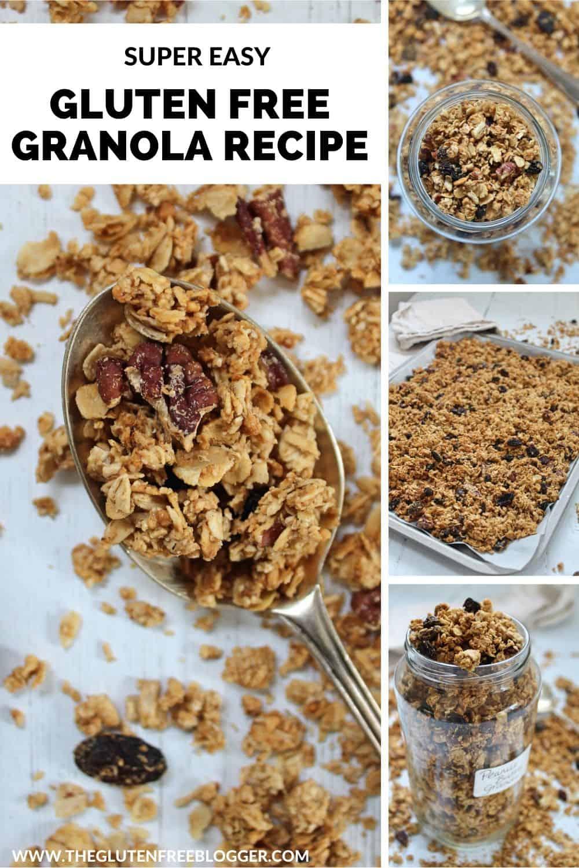 easy gluten free granola recipe peanut butter breakfast ideas (1)
