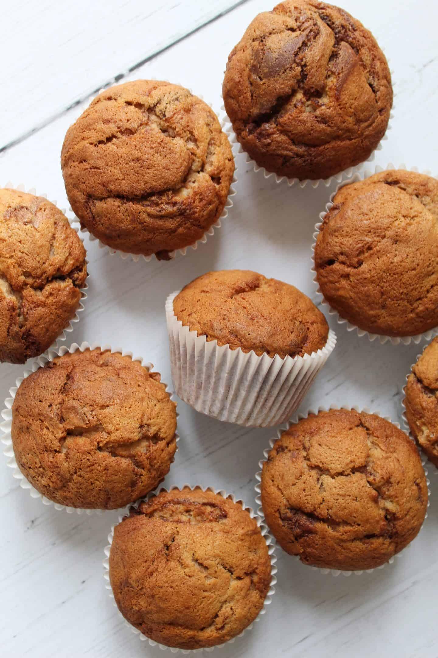 GLUTEN FREE NUTELLA BANANA MUFFINS RECIPE