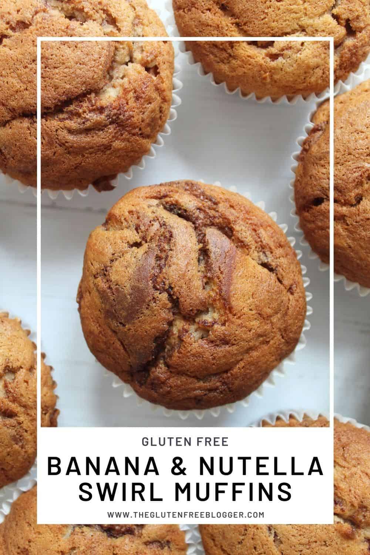 gluten free banana and nutella swirl muffins recipe rice flour cake (2)