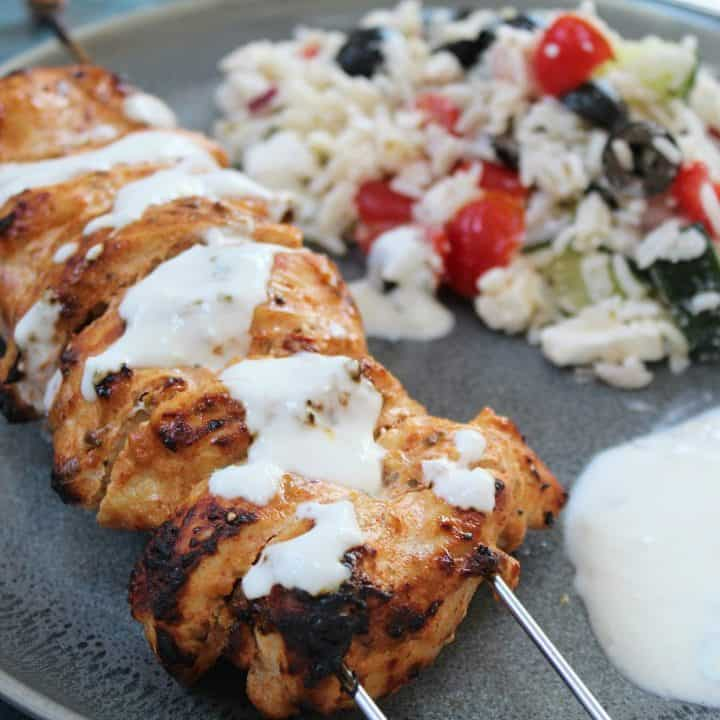 chicken kebabs with greek rice salad recipe gluten free 6